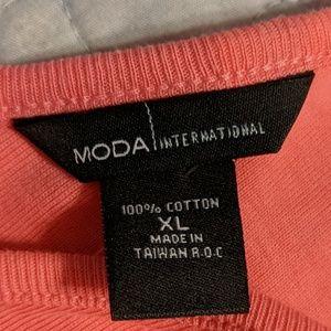 Moda International Dresses - Coral maternity mini dress